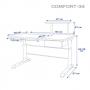 Парта Rifforma Comfort-34 голубая