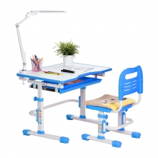 Ортопедическая парта для школьника Rifforma Set-10 голубой