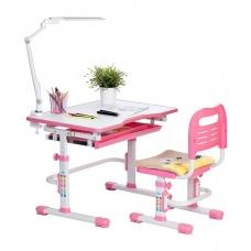 Парта школьная регулируемая Rifforma Set-10 розовый