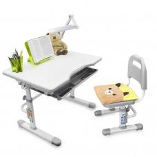 Ортопедическая парта для школьника Rifforma Set-10 серый