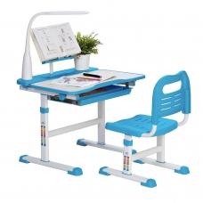 Ортопедическая парта для школьника Rifforma Set-17 клен и голубой