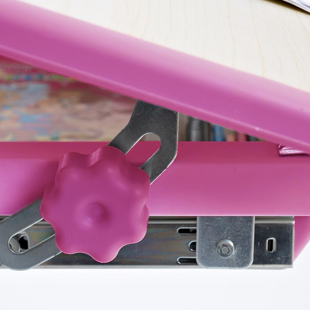 Комплект парта и стул клен и розовый Rifforma Set-17