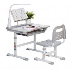 Ортопедическая парта для школьника Rifforma Set-17 серый